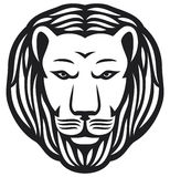 Lion head. Tatoo design, lion head vector Stock Image