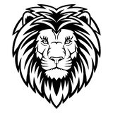 Lion Head. A Lion head  logo in black and white. This is vector illustration ideal for a mascot and tattoo or T-shirt graphic Stock Photos
