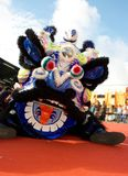 Lion head. For chinese traditional lion dance Royalty Free Stock Image