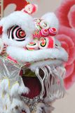 Lion head. A traditional lion head as used by the chinese to celebrate joyous occasions Stock Photo