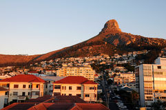 Lion Head. Sunset photo of the Lion Head in Cape Town royalty free stock images