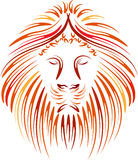 Lion head abstract Royalty Free Stock Photography