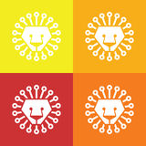 Lion head abstract isolated on a colorful backgrounds, vector Royalty Free Stock Image
