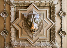 Lion head bas-relief Royalty Free Stock Photos