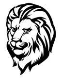 Lion Head Black e bianco Immagine Stock