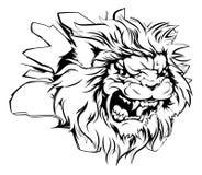 Lion head breaking through background Royalty Free Stock Photo