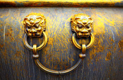 lion head on a bronze pot at Forbidden City,China Stock Image