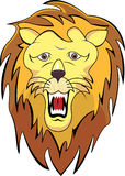 Lion head cartoon Stock Image