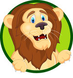 Lion head cartoon Royalty Free Stock Photo