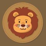 Lion Head Cartoon Vector sveglio Fotografia Stock Libera da Diritti