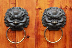 Lion Head Chinese Door Knob, Chengdu, China Stock Afbeeldingen