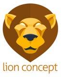 Lion Head Concept Stock Photos