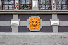 Lion head decal, Hann Munden, Germany Royalty Free Stock Photo