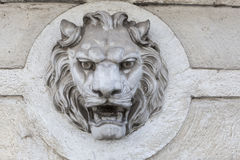 LIon Head Decoration Royalty Free Stock Photo