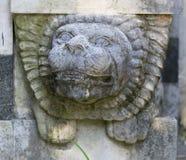 Lion Head Decoration di pietra Fotografie Stock Libere da Diritti