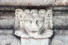 Lion head, detail of fountain in Italy, Roma Stock Images