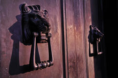 Lion head door Royalty Free Stock Image