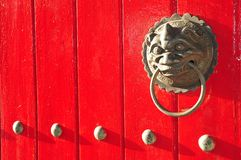 Lion Head Door Handle Royalty Free Stock Photo