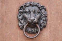 Lion head door hanger stock photography