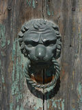 Lion head door knock Royalty Free Stock Photos