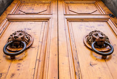 Lion Head Door Knocker Royalty Free Stock Photos