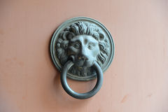 Lion Head Door Knocker Fotografia Stock Libera da Diritti