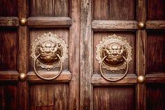 Lion Head Door Knocker Foto de Stock Royalty Free