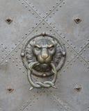 Lion Head Door Knocker Royalty-vrije Stock Afbeeldingen