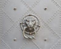 Lion Head Door Knocker Stock Foto's