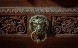 Lion Head Door Knocker Imagens de Stock
