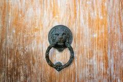 Lion Head Door Knocker Imágenes de archivo libres de regalías