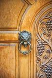 Lion Head Door Knocker, Ancient Knocker Royalty Free Stock Images