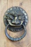 Lion Head Door Knocker, battitore antico Immagini Stock