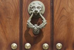 Lion head door knocker Stock Image