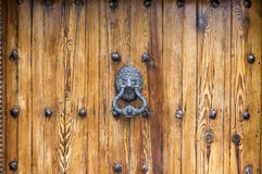 Lion Head Door Knocker Royalty Free Stock Photo