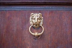 Lion head door knocker Royalty Free Stock Photos