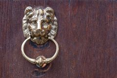 Lion head door knocker Royalty Free Stock Photography