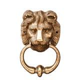 Lion Head Door Knocker. Lion's head door knocker isolated on white Stock Photography