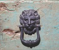 Lion Head Doorknob stock afbeeldingen