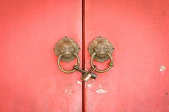 Lion head doorknocker chinese style Stock Images