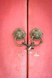 Lion head doorknocker chinese style Royalty Free Stock Images