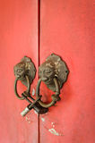 Lion head doorknocker chinese style Stock Photos