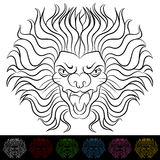 Lion Head Drawing. An image of a lion head drawing Stock Image