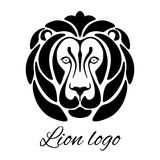 Lion Head Emblem Royalty-vrije Stock Foto's