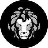 Lion head emblem Stock Photos
