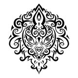 Lion head. Ethnic pattern. Lion head. Tribal pattern. Ethnic tattoo. Vector illustration Stock Photography