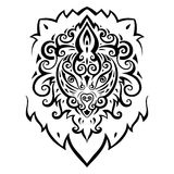 Lion head. Ethnic pattern. Lion head. Tribal pattern. Ethnic tattoo. Vector illustration Royalty Free Stock Images
