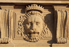 Lion head on the facade of Pitti Palace Museum in Florence Stock Images