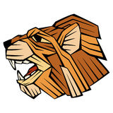 Lion head face vector style profile Royalty Free Stock Photography