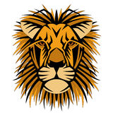 Lion head face vector  style side front Royalty Free Stock Image
